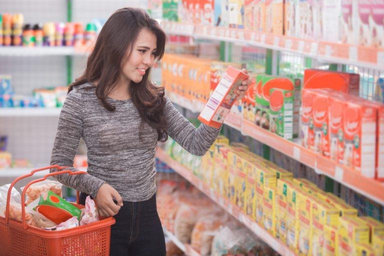 Woman at a supermarket