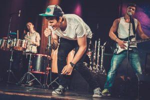 band performing at a concert