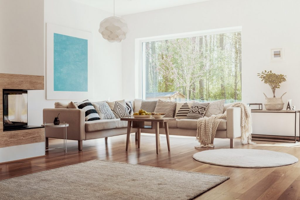home with rugs inside