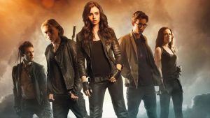 Lily Collins Mortal Instruments movie poster