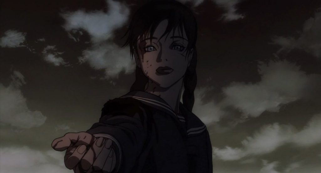The mysterious Saya is one of the most influential female vampires in anime.