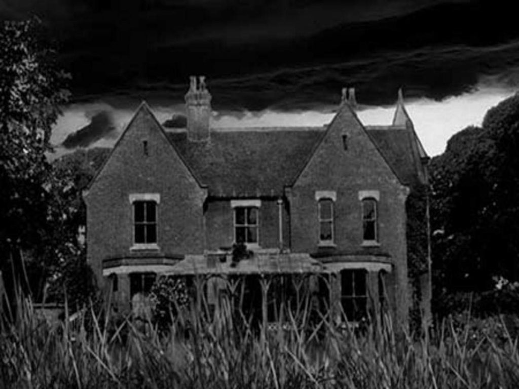 house in grayscale
